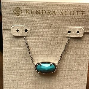 NWT Kendra Scott Turquoise and Silver Pendant